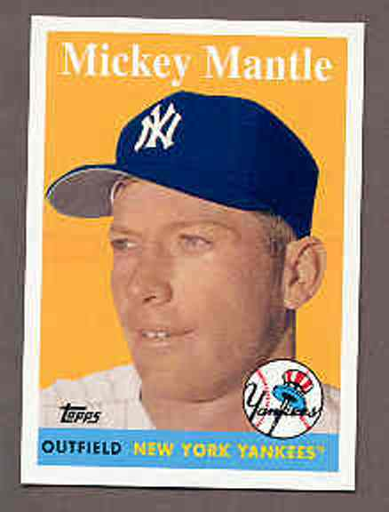2008 Topps National Convention 1958 Retro Mickey Mantle Card