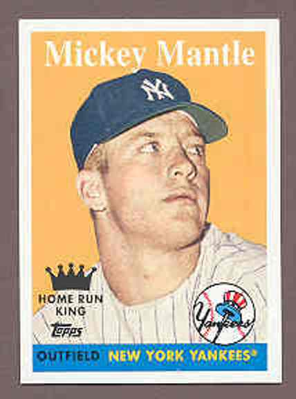 2008 Topps National Convention 1958 Retro Mickey Mantle Hr King Card