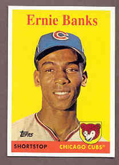 2008 Topps National Convention 1958 Retro Ernie Banks Card