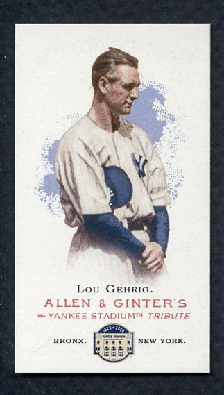 2008 Topps National Convention 1888 Allen & Ginter Lou Gehrig Card