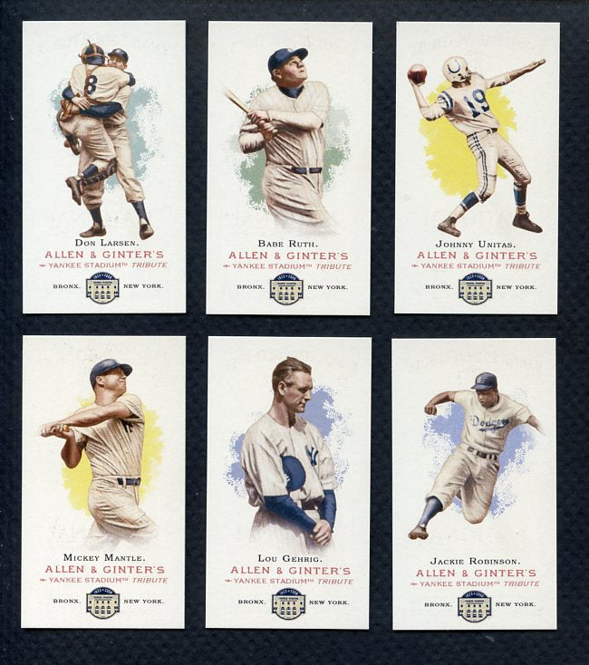 2008 Topps National Convention 1888 Allen & Ginter Set Babe Ruth Lou Gehrig