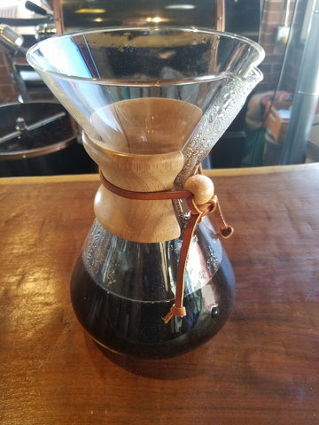 Chemex finished brewing