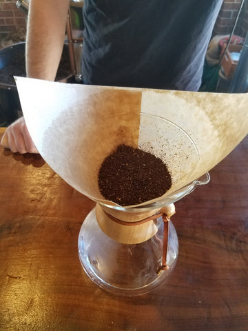 Chemex with coffee