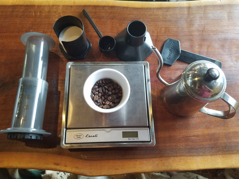 Iced AeroPress ingredients