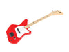 Loog Pro LGPRER Electric Guitar starter kit, Children, Teens, Beginners, (Red)