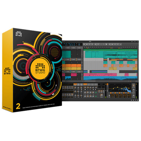 Bitwig Studio Music Production and Performance Multi-track Recording Software Version 2+upgrade to 3