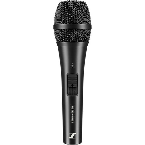 Sennheiser XS-1 Handheld microphone (cardioid, dynamic) with mute switch. Includes (1) microphone clamp and (1) transport pouch
