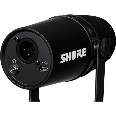 Shure MV7 Podcast USB/XLR Microphone (MV7-K) Black