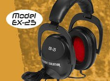 Direct Sound EX-25 Extreme Isolation Headphones, Black (Refurb)