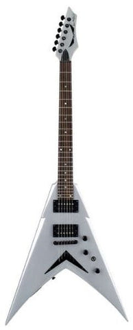 Dean V Dave Mustaine Guitar, Bolt-On in Metallic Silver