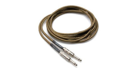 Hosa Tweed Guitar Cable, Straight to Same, 18ft