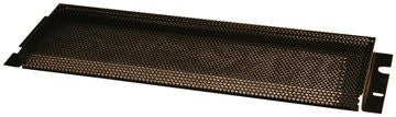 "Gator GRW-PNLSEC1 Gator Rackworks Security Cover; Non-PVC Rubber Edging; 5/32"" Holes; 1"" Space Between Panel & Gear; 1U"