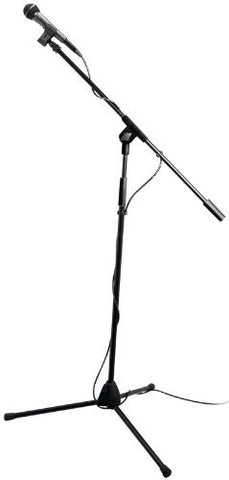 On Stage Microphone Propak, Pak includes (1) AS400 Mic, (1) Tripod Boom Stand, (1) MY200 Mic Clip, and (1) 20 ft. XLR-XLR cable