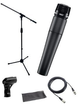 Shure SM57-LC Microphone Bundle with MIC Boom Stand and XLR Cable