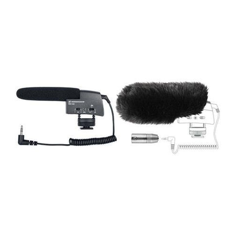 Sennheiser MKE400 Compact Shotgun Microphone Camera Mountable BUNDLE and MZW400 Windscreen Bundle