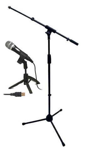 CAD U1 USB Microphone Bundle with Mic Boom Stand