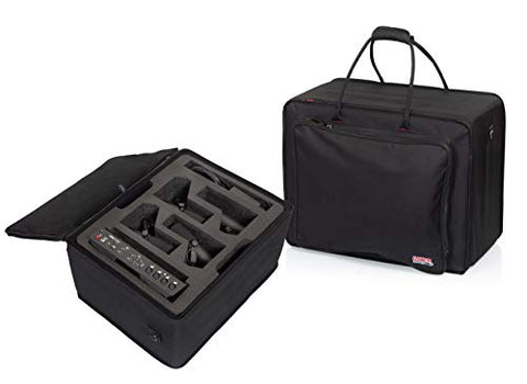 Gator Cases Lightweight Case with Custom Cut Foam Interior for RODECASTER Pro Podcast Mixer, Four Headphones, and Four Microphones; (GL-RODECASTER4)