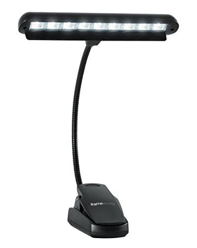Gator Cases GFW-MUS-LED Frameworks Clip-On LED Music Lamp with Adjustable Neck