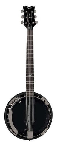 Dean Backwoods 6 Banjo w/Pickup in Black Chrome