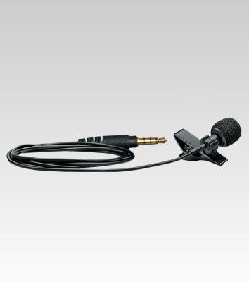 "Shure MVL Omnidirectional Condenser Lavalier Microphone [1/8"" (3.5MM)] + windscreen, tie-clip mount and carrying pouch"