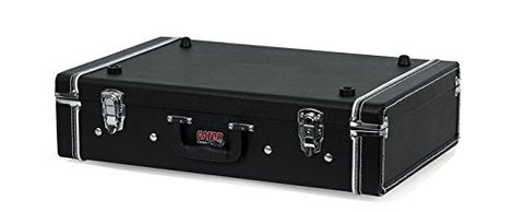 "Gig-Box Jr. All-In-One Pedal Board and 3x Guitar Stand Combo Case with Classic Wooden Case and 21.5"" x 15"" Pedal Board Surface"