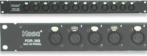 Hosa PDR369 12 Point Balanced XLR Patch Bay
