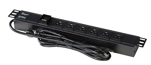 Gator GRW-PWRVERT-6 Gator Rackworks Power Strip w/ 6-Outlet; UL; Rack Mountable