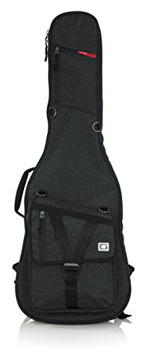 Gator Cases GT-ELECTRIC-BLK Transit Series Electric Guitar Gig Bag with Black Exterior, Charcoal