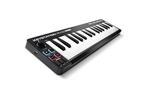 M-Audio Keystation Mini 32 MK3 Ultra-Portable Mini USB MIDI Keyboard Controller With ProTools First | M-Audio Edition and Xpand!2 by AIR Music Tech