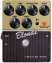 Tech 21 CS-BL.2 SansAmp Character Series Blonde V2 Distortion Guitar Effects Pedal