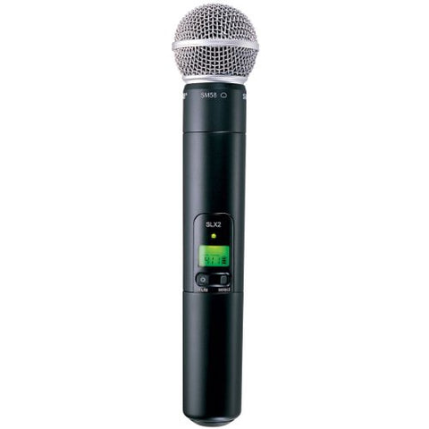 Shure SLX2/SM58 Handheld Wireless Microphone Transmitter with SM58 Capsule (H5: 518 to 542 MHz) (USED-LIKE NEW)