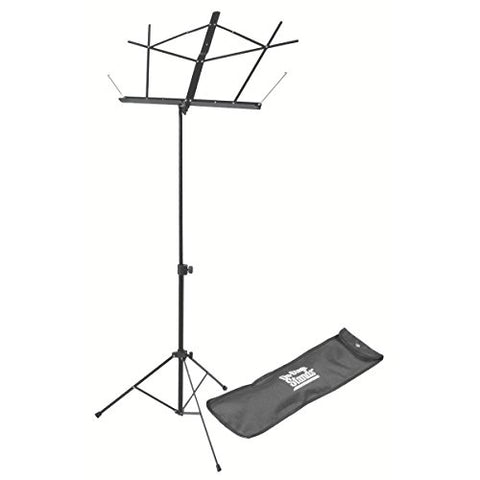 On Stage Stands SM7122BB Compact Sheet Music Stand with Bag, in Black