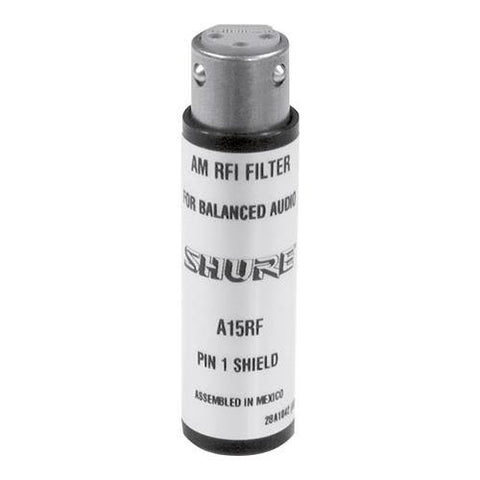 Shure A15RF RF Filter, XLR In/Out, Passes Phantom Power