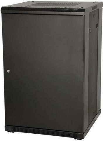 "Gator GRW3027509 Gator Rackworks Floor Standing Rack; 27U, 23"" Deep; Steel Back Door; Vented Glass Front Door"