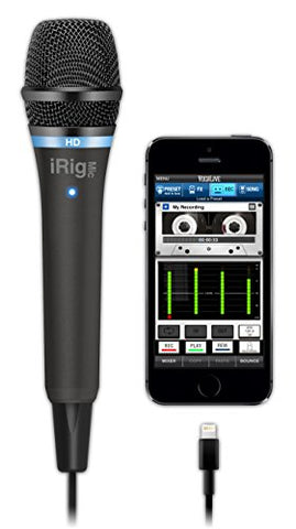 IK Multimedia iRig Mic HD high-definition handheld microphone for iPhone, iPad and Mac (black)
