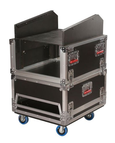 Gator Cases 14U Top, 6U Side Audio Road Console Rack