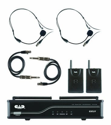 CAD GXLVBB VHF Wireless Dual Bodypack Microphone System, H frequency (Refurb)