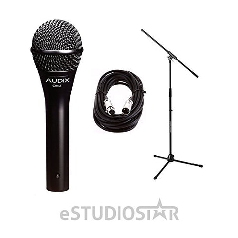 OM3 Dynamic Vocal Mic w/20ft XLR Cable and Stand