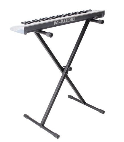 Rok-It Adjustable Single Brace X Style Keyboard Stand; (RI-KEYX-1)