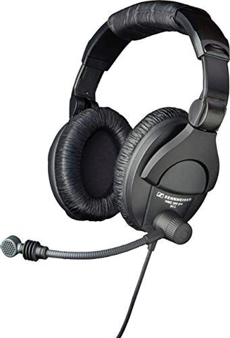 Sennheiser HMD280-XQ-2 Dual-Ear Closed Headphones with Supercardioid Dynamic Boom Microphone, 9.9 FT (refurb)