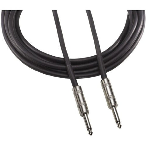 Audio Technica Speaker cable, 14-ga., 1/4 in. - 1/4 in. phone plug, 3 ft.