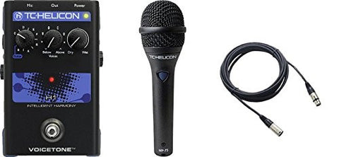 TC Helicon VoiceTone H1 and TC MP75 Mic & Cable Bundle