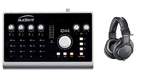 Audient ID44 USB Audio Interface Bundle with Audio-Tehnica ATH-M20X Headphones (2 Items)
