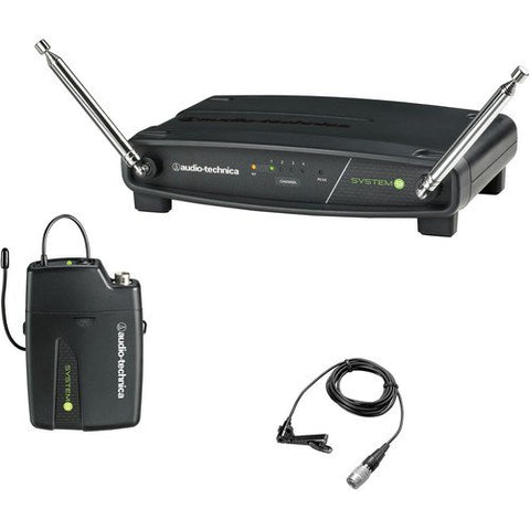 Audio-Technica's System 9 ATW-901a/L ATW-R900a receiver and ATW-T901a body-pack transmitter with omnidirectional lavalier microphone