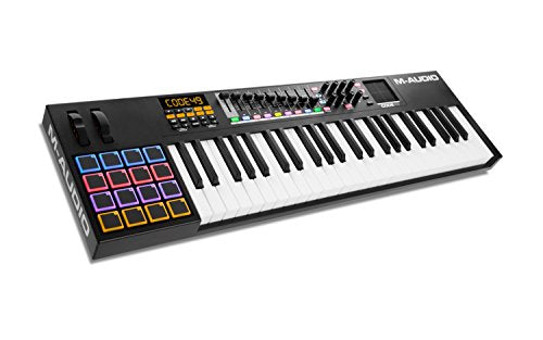 M-Audio Code 49 Black 49-Key USB MIDI Keyboard Controller with X/Y Touch Pad (16 Drum Pads / 9 Faders / 8 Encoders) (Refurb)
