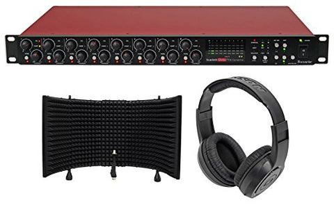 Focusrite Scarlett OctoPre Dynamic Microphone Preamp+Isolation Shield+Headphones