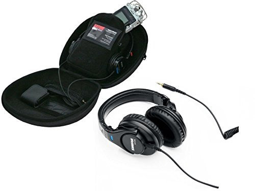 Shure SRH440 Professional Monitor Headphones with Gator Recorder Case for Recorders, Headphones and Accessories