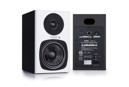 "Fostex PMO.4D Digital 4"" 2-way studio monitors, White, Set of 2"
