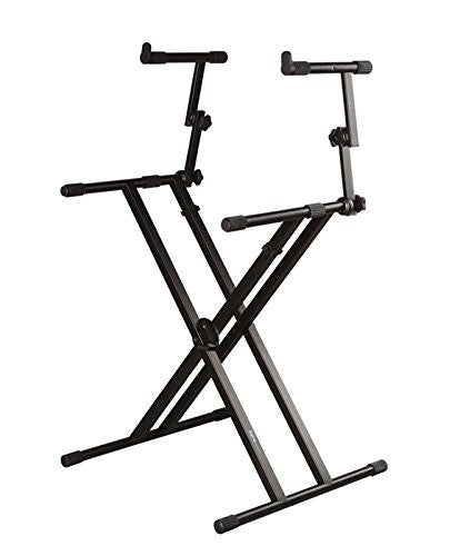 "Gator GFW-KEY-5100X Frameworks heavy duty 2 Tier ""X"" style keyboard stand with rubberized leveling foot Frameworks heavy duty 2 Tier ""X"" style keyboard stand with rubberized leveling foot"