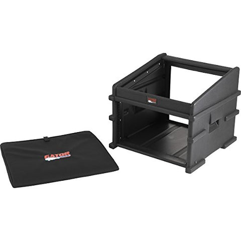 Gator 10U Top, 6U Side DJ Station (GDJ-10X6) REPLACED BY Gator 10U Top, 6U Side Console Audio Rack (GRC-10X6)